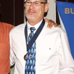 Roger Grupp accepts BHoF Medal from Frank Ponzo copy